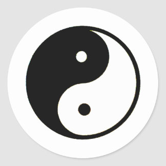 Yin Yang transp The MUSEUM Zazzle Gifts Round Sticker