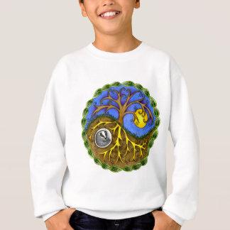 Yin & Yang Tree and Badger Sweatshirt