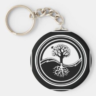 Yin Yang Tree Basic Round Button Keychain