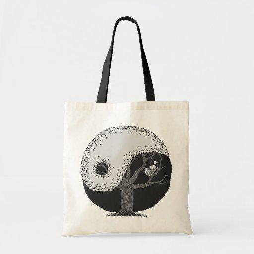 Yin Yang Tree Budget Tote Bag