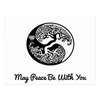 Yin-Yang Tree May Peace Be With You Postcard