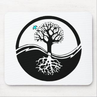 Yin Yang Tree Mouse Pad
