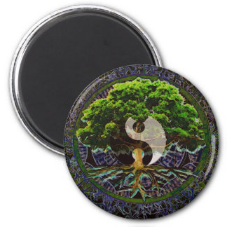 Yin Yang Tree of Life 2 Inch Round Magnet