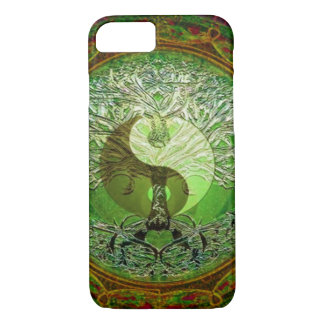 Yin Yang Tree of Life Green iPhone 7 Case