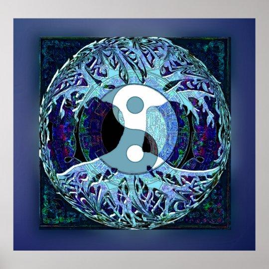 Yin Yang Tree of Life Poster