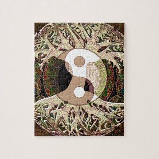 Yin Yang Tree of Life Tan Jigsaw Puzzle