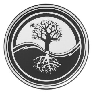 Yin Yang Tree Plate