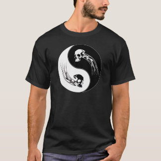 Yin Yang Tribal Skull T-Shirt