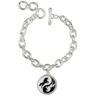Yin Yang Unicorn Charm Bracelet