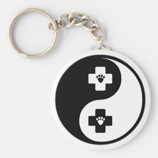 Yin Yang Veterinary Medicine Key Chains