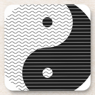Yin Yang Waves Coaster