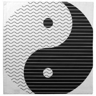Yin Yang Waves Napkin