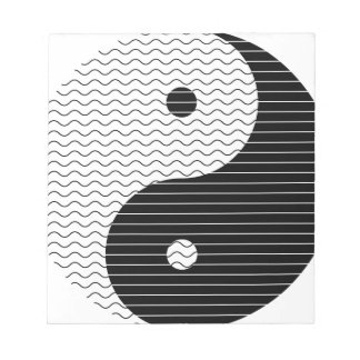 Yin Yang Waves Notepad