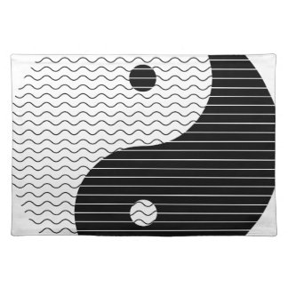 Yin Yang Waves Placemat
