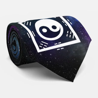 Yin Yang with Bagua Trigram Symbols I-Ching Tie