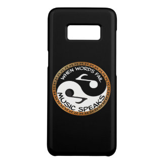 Yin Yang with music words Case-Mate Samsung Galaxy S8 Case