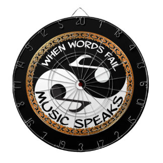 Yin Yang with music words Dartboard