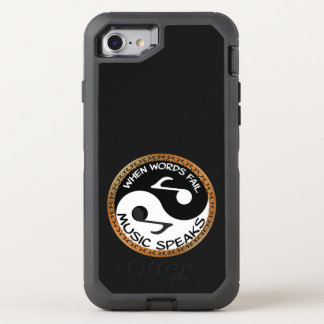 Yin Yang with music words OtterBox Defender iPhone 8/7 Case