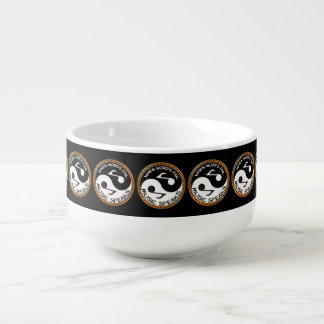 Yin Yang with music words Soup Mug