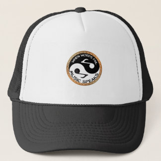 Yin Yang with music words Trucker Hat