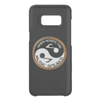 Yin Yang with music words Uncommon Samsung Galaxy S8 Case