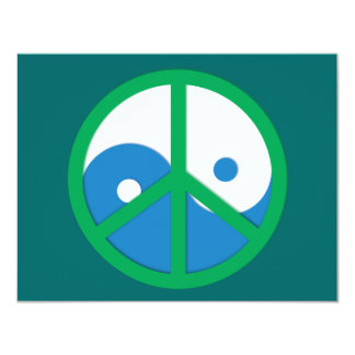 Yin-Yang with Peace sign Card