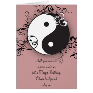 Yin-Yang with scrolling Card