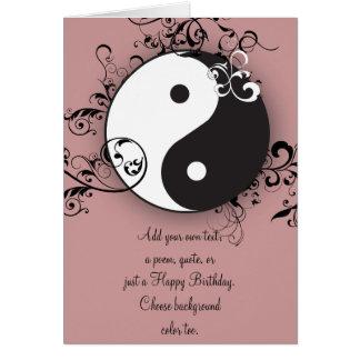 Yin-Yang with scrolling Card