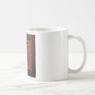 Yin Yang Woodcut Mandala Coffee Mug