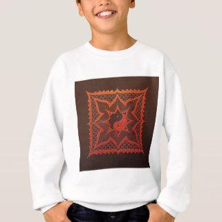 Yin Yang Woodcut Mandala Sweatshirt