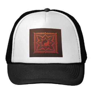 Yin Yang Woodcut Mandala Trucker Hat