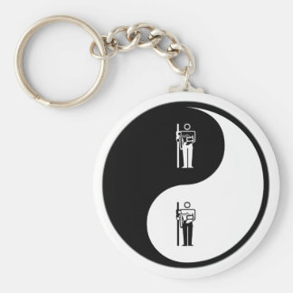 Yin Yang X-Ray Basic Round Button Keychain