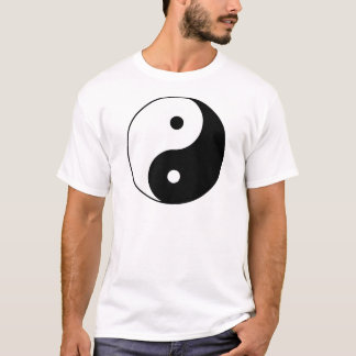 Yin Yang Ying Taoism Sign Chinese Taijitu Black T-Shirt