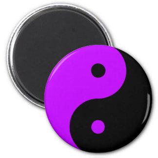 Yin Yang Ying Taoism Sign Chinese Taijitu Purple 2 Inch Round Magnet
