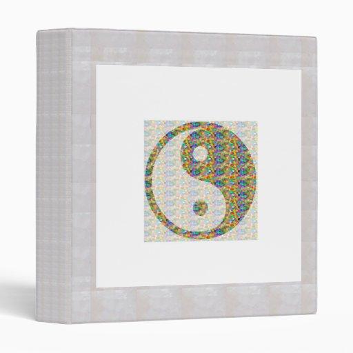 YIN YANG YinYang Balance Chinese Symbol Oriental A 3 Ring Binders
