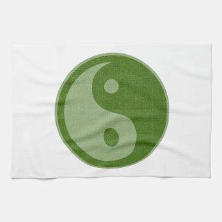 YIN YANG YINYANG GREEN KITCHEN TOWEL