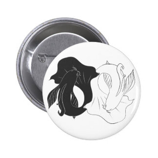 Ying and Yang koi 2 Inch Round Button