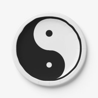 Ying And Yang Paper Plate