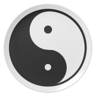 Ying and Yang Plate