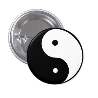 ying & Yang 1 Inch Round Button