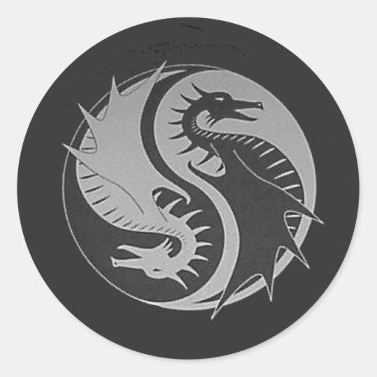 Ying Yang Classic Round Sticker