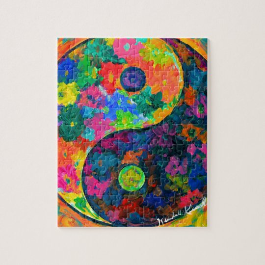 Ying Yang Flower Jigsaw Puzzle