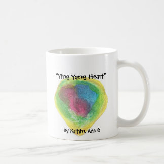 """Ying Yang Heart"" , By Kaitlin, ... Coffee Mug"