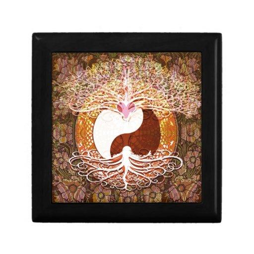 Ying Yang Heart Tree of Life Gift Box
