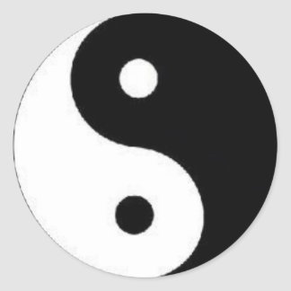 Ying Yang Peace Sign Sticker