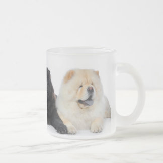 YingYang Chows Frosted Glass Coffee Mug