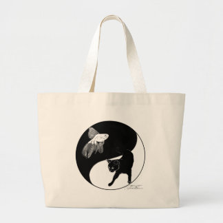 YinYang Fish and Cat Bag