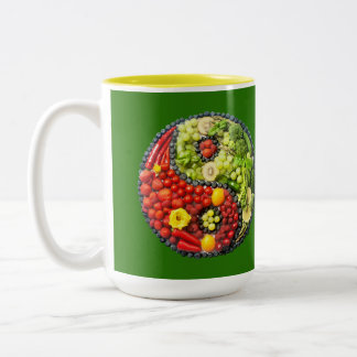 YinYang - Vegan harmony Two-Tone Coffee Mug