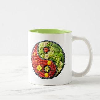 YinYang - Vegan harmony Two-Tone Coffee Mug