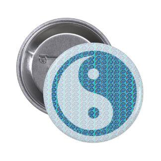 YinYang YIN YANG Balanced 2 Inch Round Button